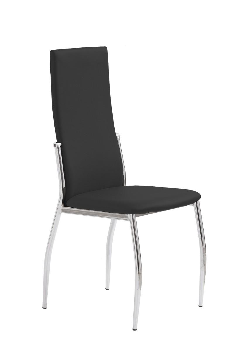 Halmar Jídelní židle Cassie černá/chrom