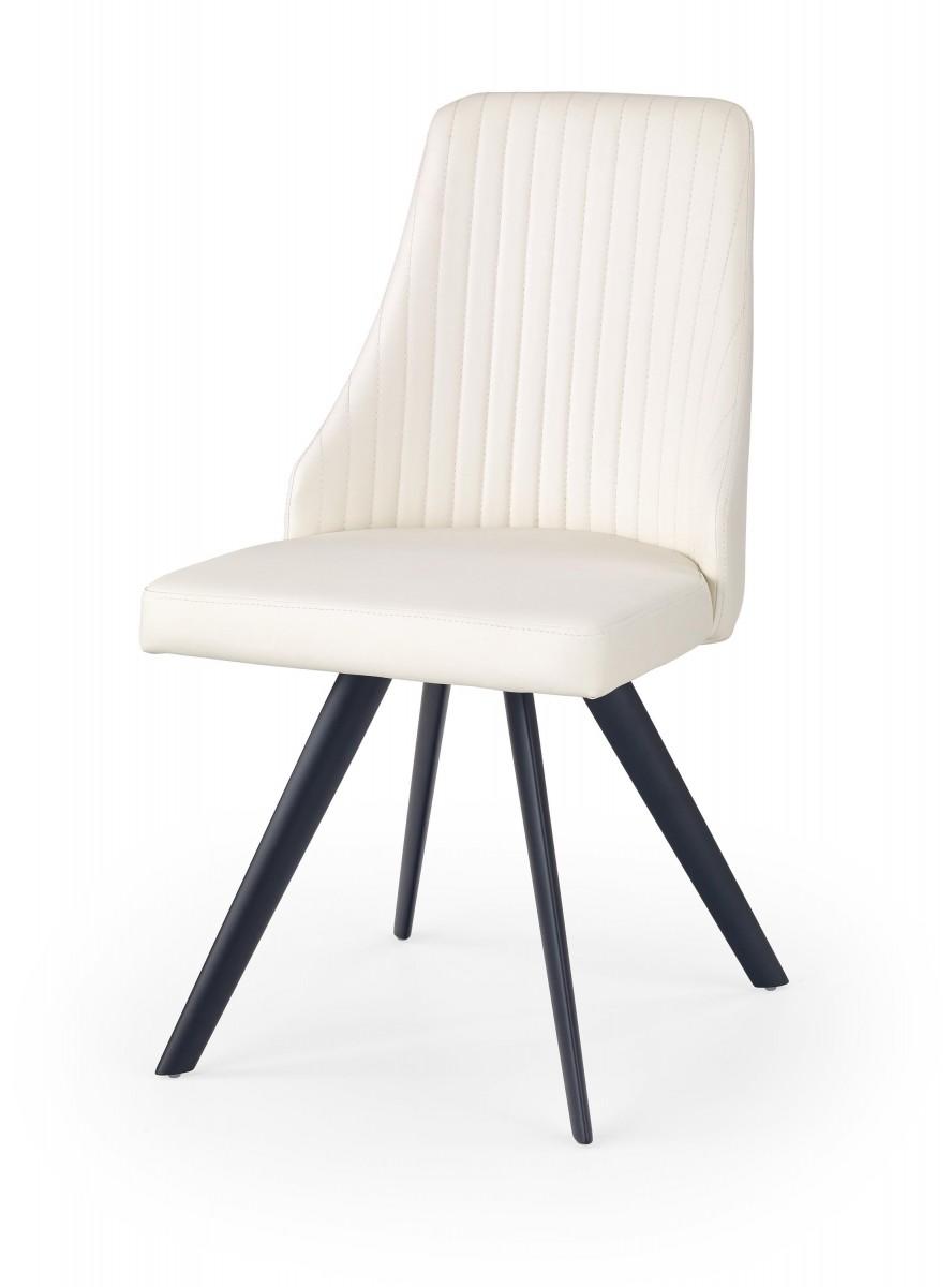 Halmar Jídelní židle Lyra bílá/černá