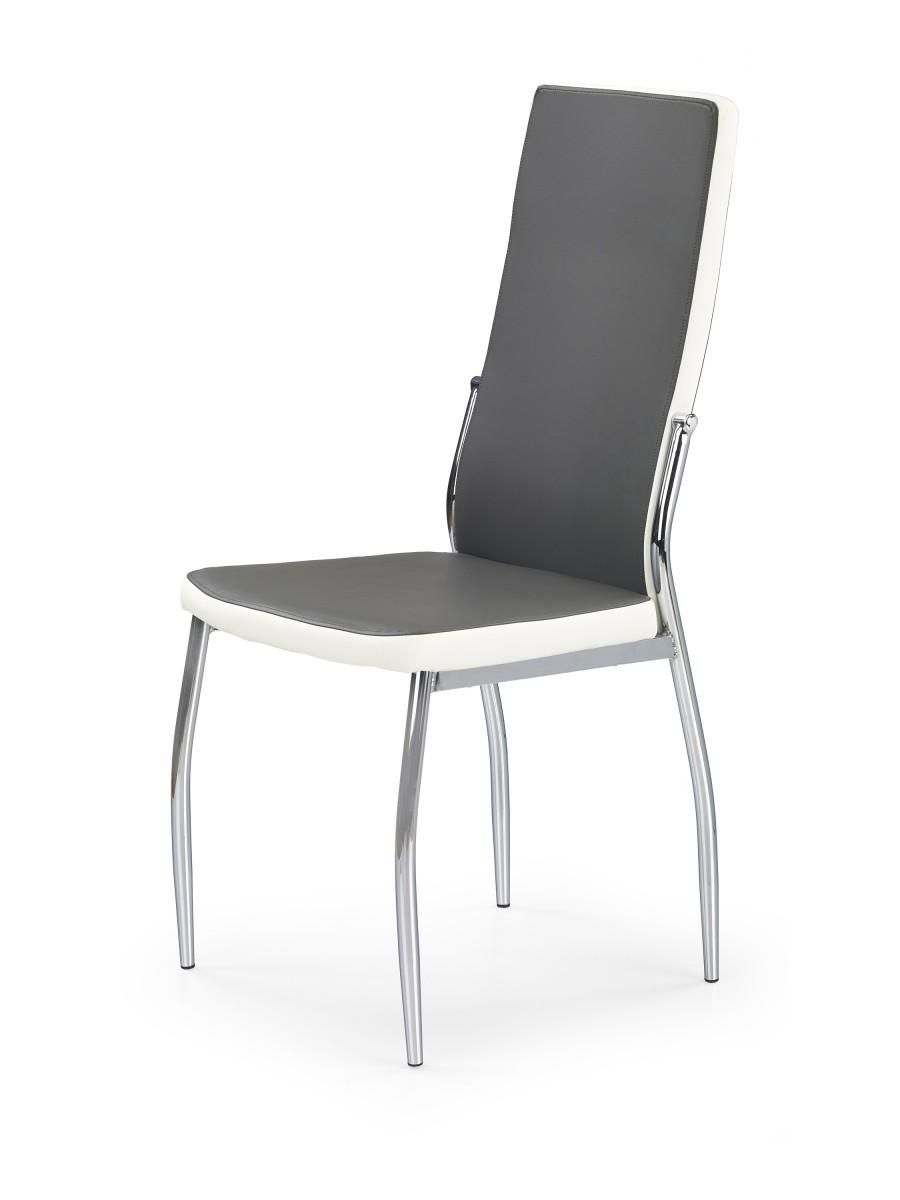 Halmar Jídelní židle Irena šedá/bílá