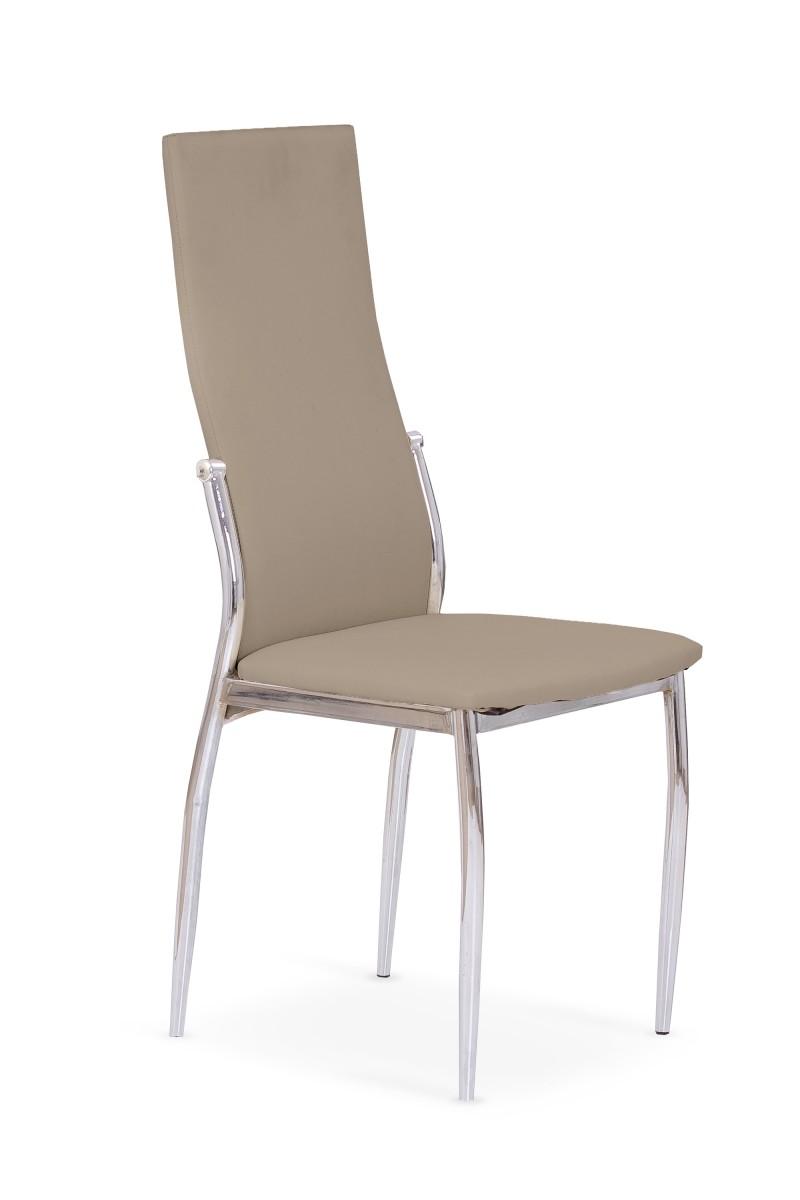 Halmar Jídelní židle Cassie cappuccino/chrom