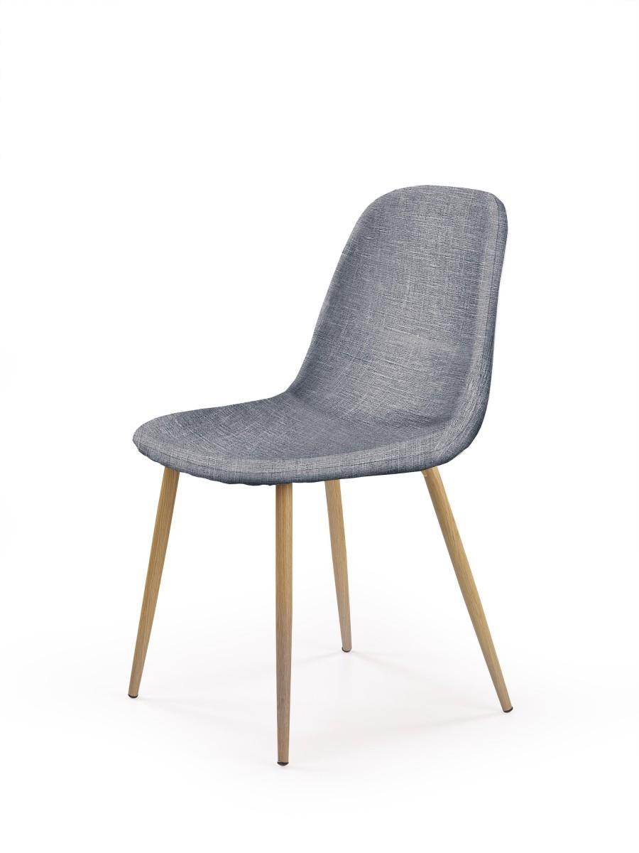 Halmar Jídelní židle Sindy šedá/dub medový