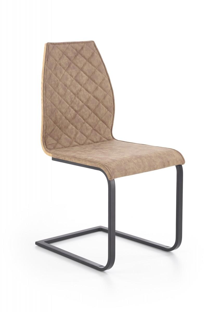 Halmar Jídelní židle Lara hnědá/černá
