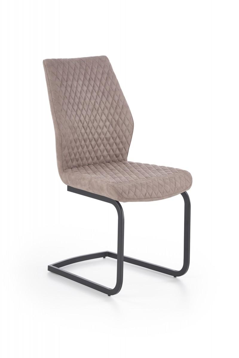 Halmar Jídelní židle Rina tmavě béžová/černá