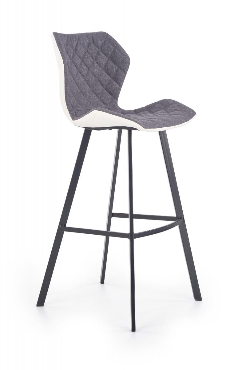 Halmar Barová židle Syria šedá/bílá