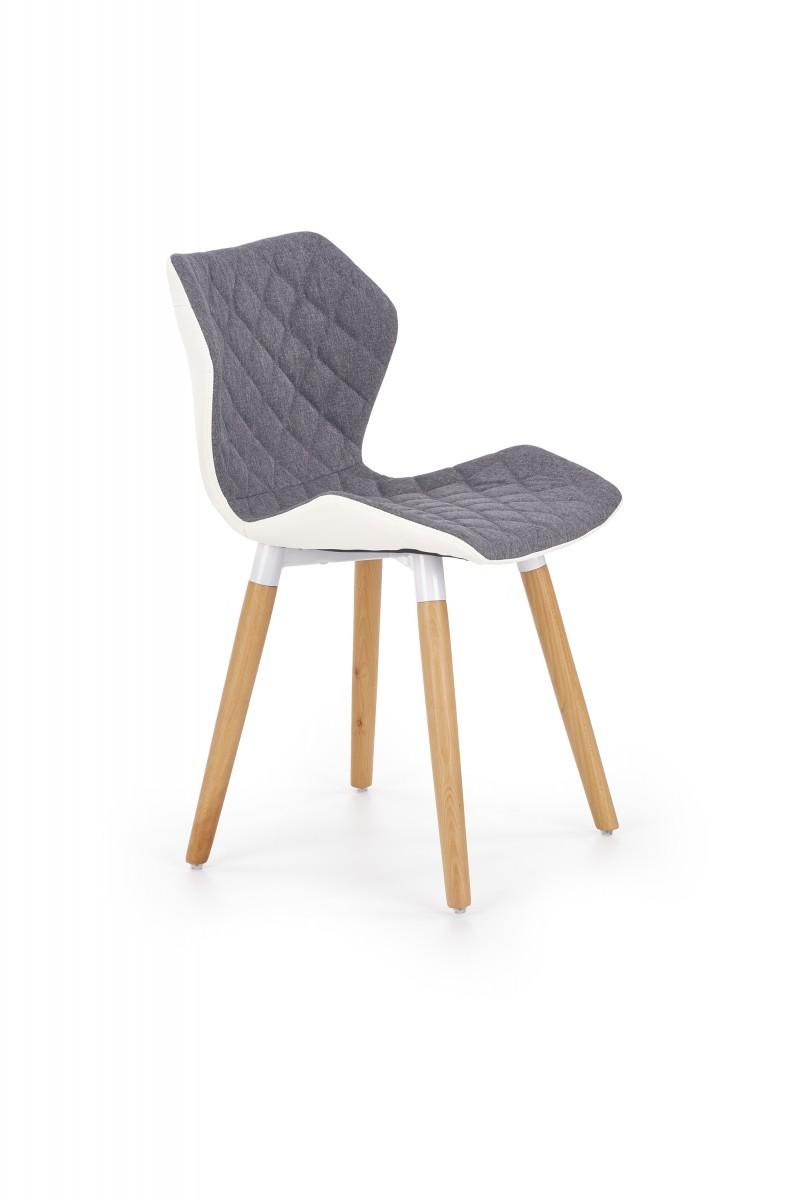 Halmar Jídelní židle Brita šedá/bílá