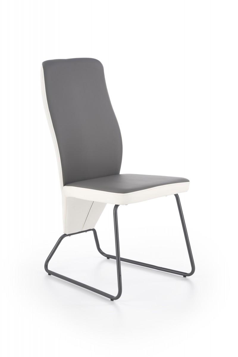 Halmar Jídelní židle Navia bílá/šedá/super šedá