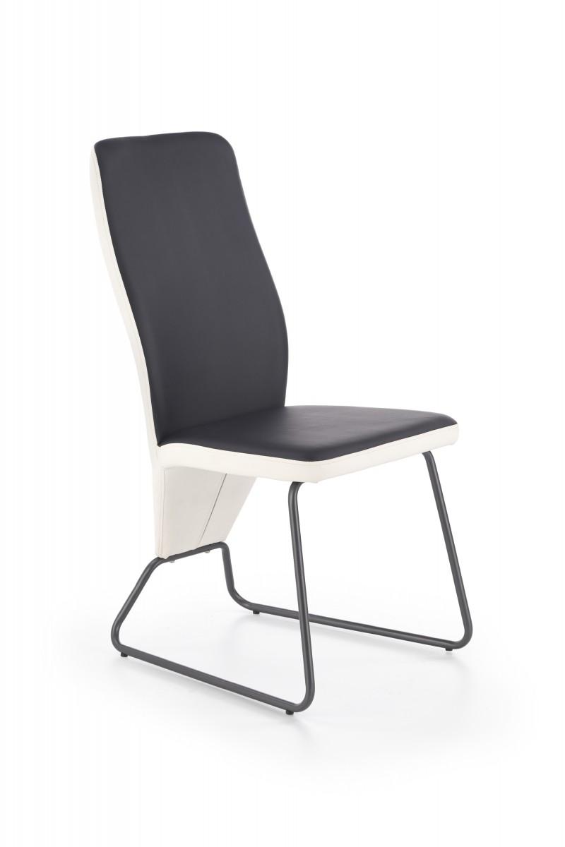 Halmar Jídelní židle Navia bílá/černá/super šedá