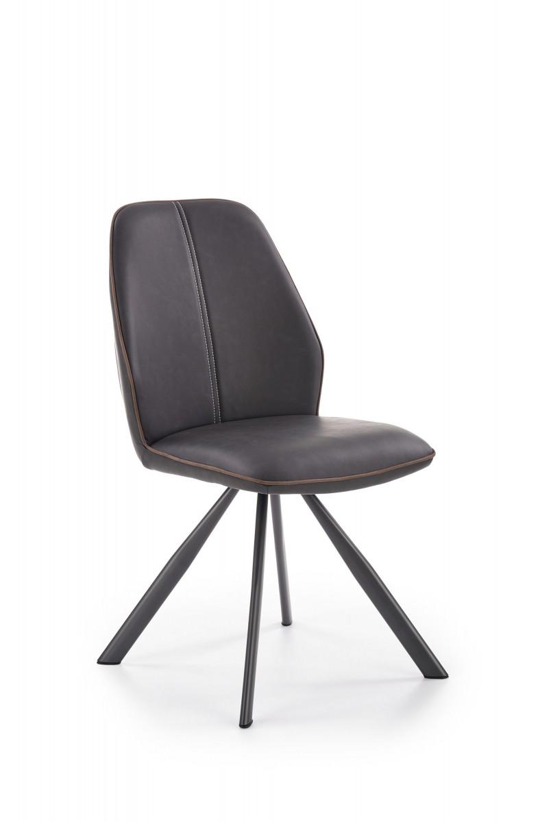 Halmar Jídelní židle Stefanie hnědá/černá