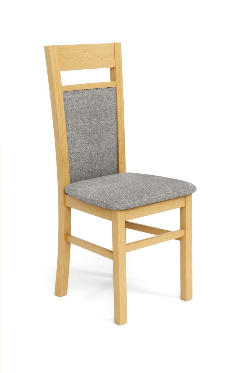 Halmar Jídelní židle Genrad dub medový/šedá