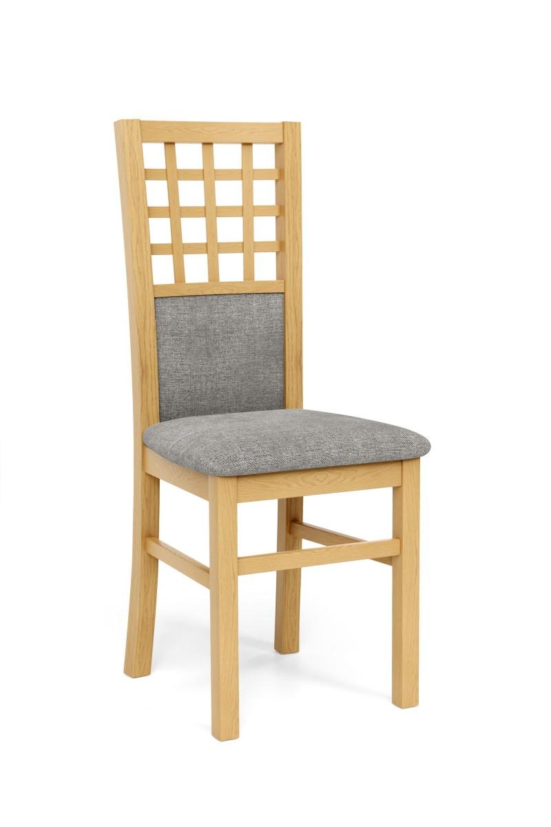 Halmar Jídelní židle Gernia dub medový/šedá
