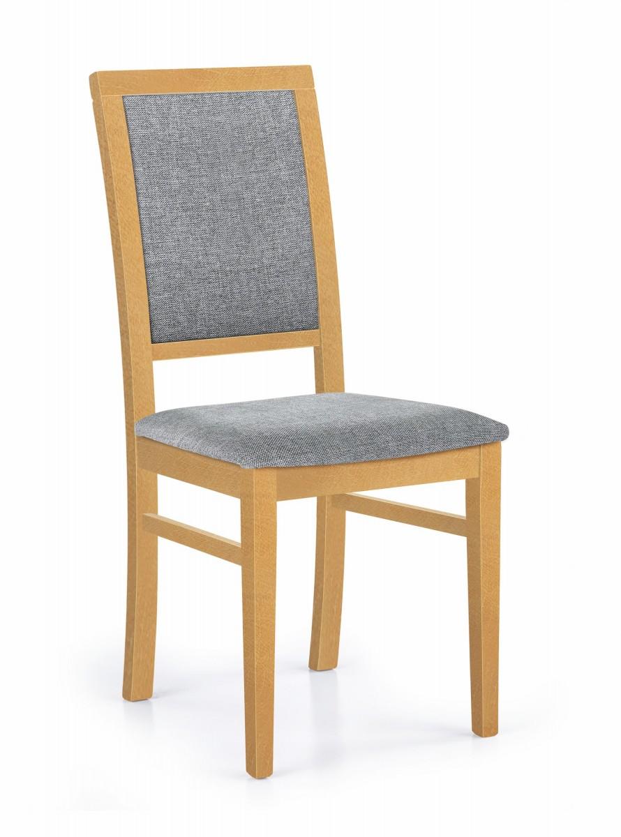Halmar Jídelní židle Kely dub medový/šedá