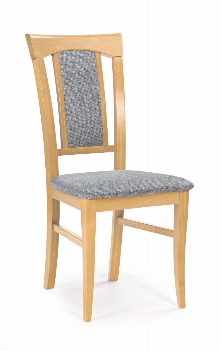 Halmar Jídelní židle Rado dub medový/šedá