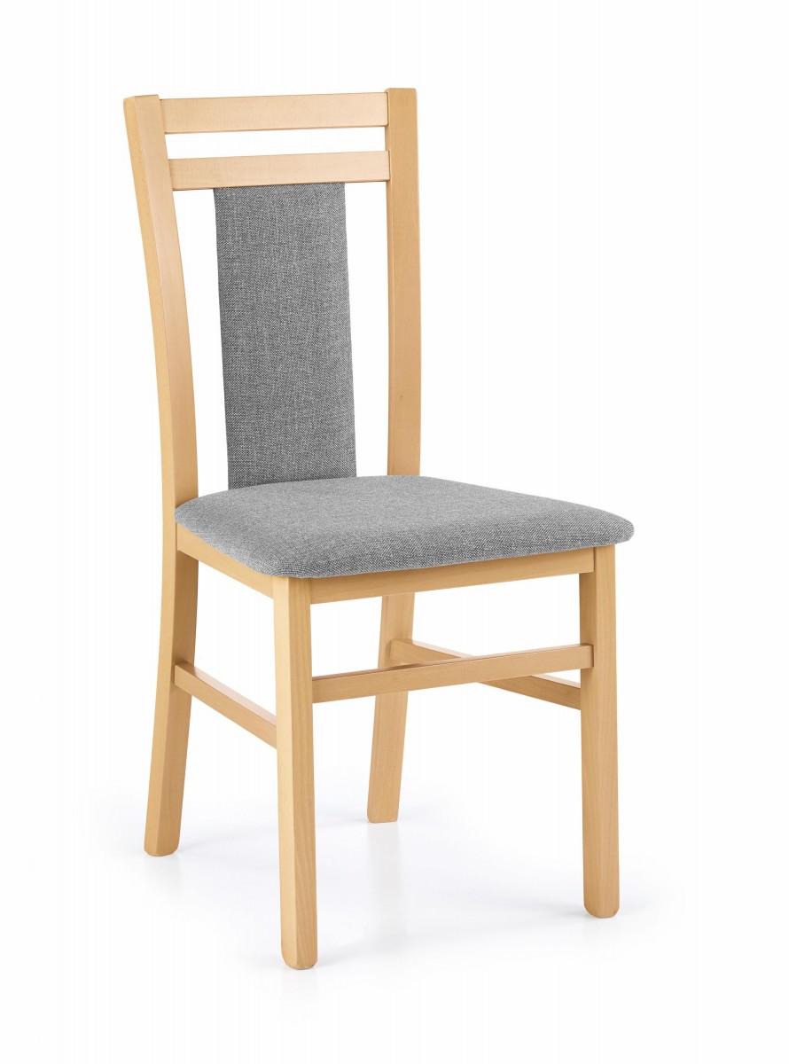 Halmar Jídelní židle Norbert dub medový/šedá