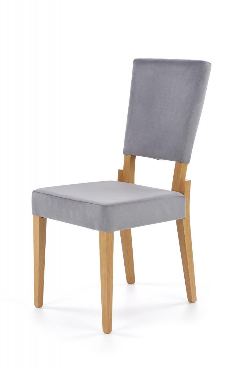 Halmar Jídelní židle Sorbia šedá/dub medový