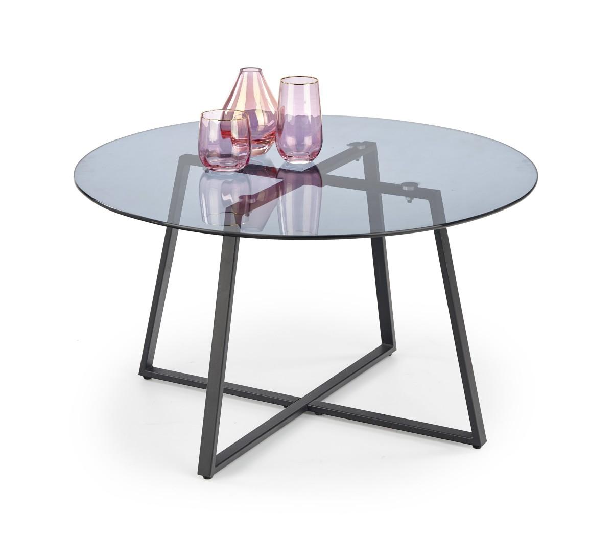 Halmar Konferenční stolek Zelda sklo/černý
