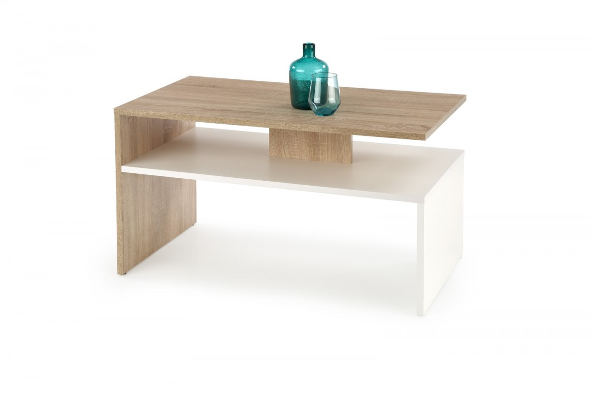 Halmar Konferenční stolek Sigma dub sonoma/bílá