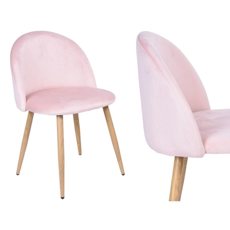 TZB Čalouněná židle JAZZ VELVET Sunny růžová