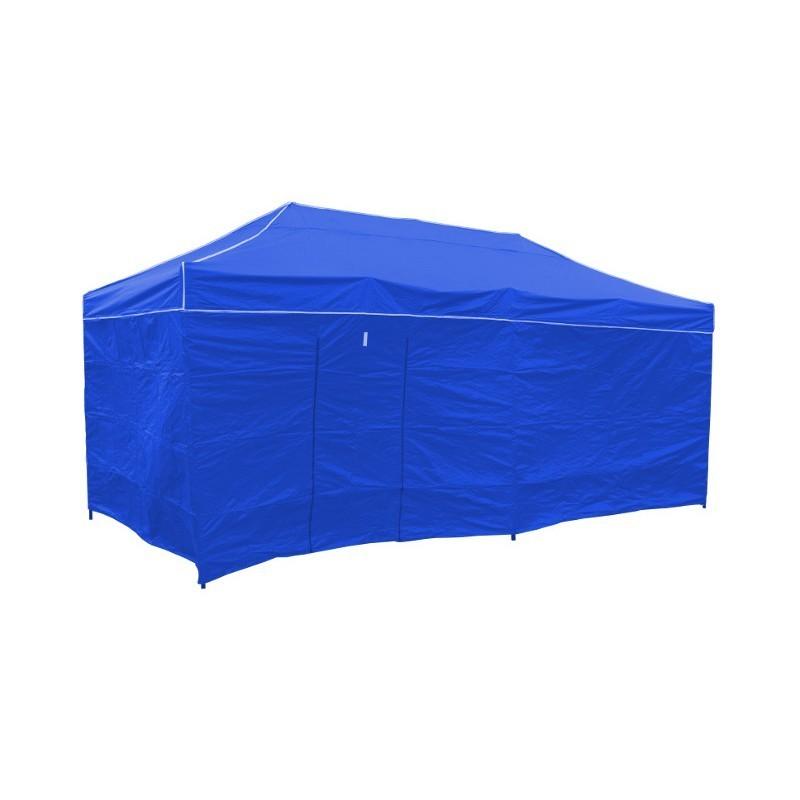 TZB Zahradní párty stan 3 x 6 m 4 stěny - modrý