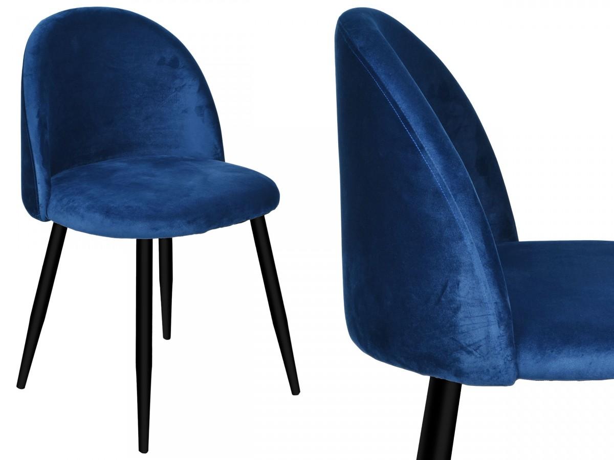 TZB Židle K-SOUL VELVET modrá