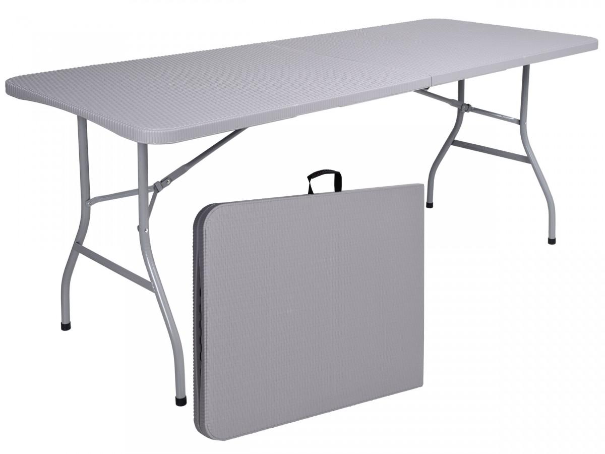 TZB Skládací zahradní stůl šedý