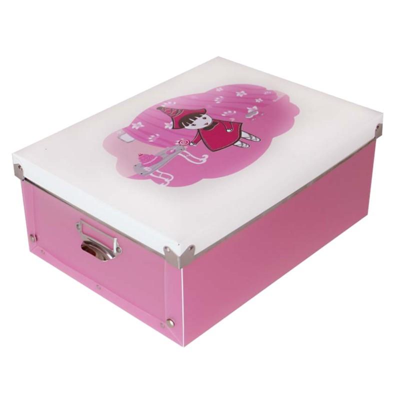 TZB Úložný box pro děti A4 - růžový