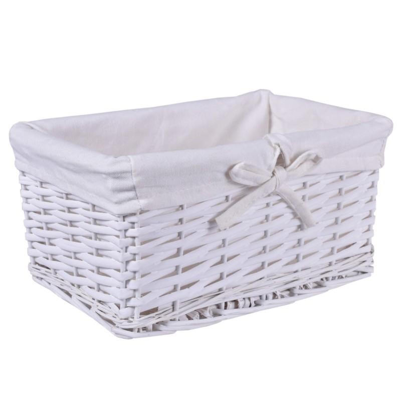 TZB Proutěný košík 30x20x15 - bílý