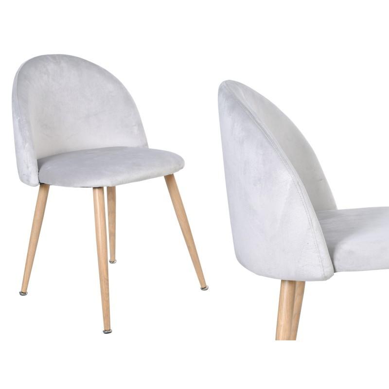 TZB Čalouněná židle JAZZ VELVET stříbrnošedá