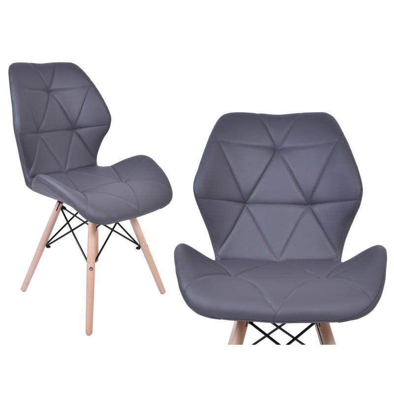 TZB Čalouněná židle RENNES - grafitová