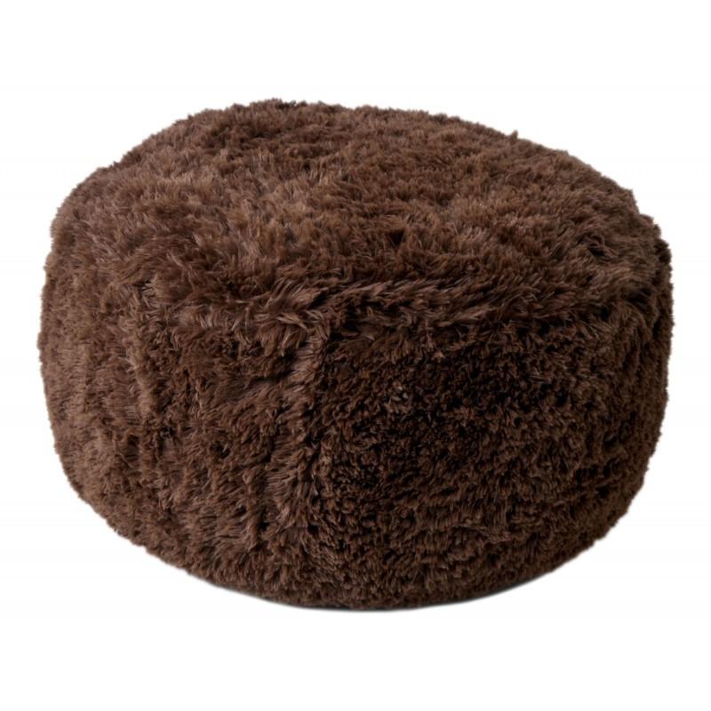 TZB Plyšový puf nafukovací čokoládový