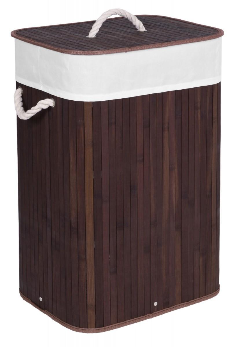 TZB Koš na prádlo RONDA tmavě hnědý