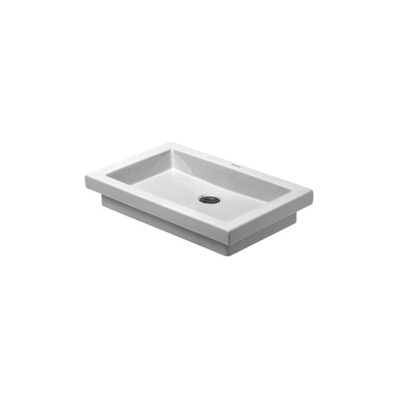 Keramické umyvadlo zápustné DURAVIT 2ND FLOOR 58x41,5 cm bílé 03175800001