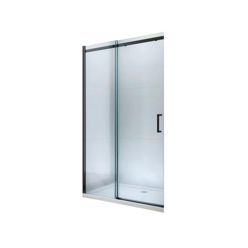 Sprchové dveře posuvné MEXEN OMEGA černé 130 cm