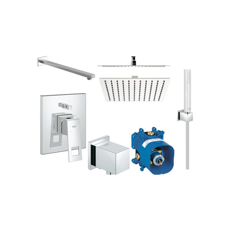 Sprchový set podomítkový GROHE EUROCUBE bez termostatu 25 CM + Mexen