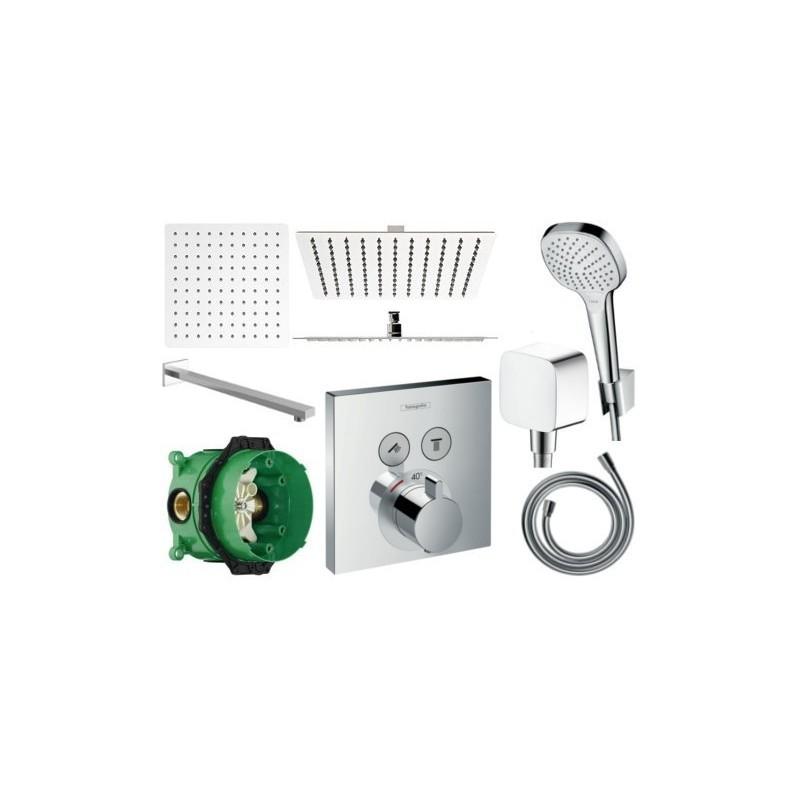Sprchový set podomítkový HANSGROHE TERMOSTAT 40x40 CM (mix výrobců)