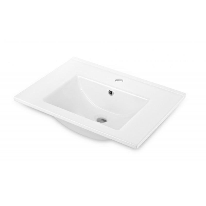 Keramické umyvadlo zápustné DEANTE FLOKS 60x45 cm bílé