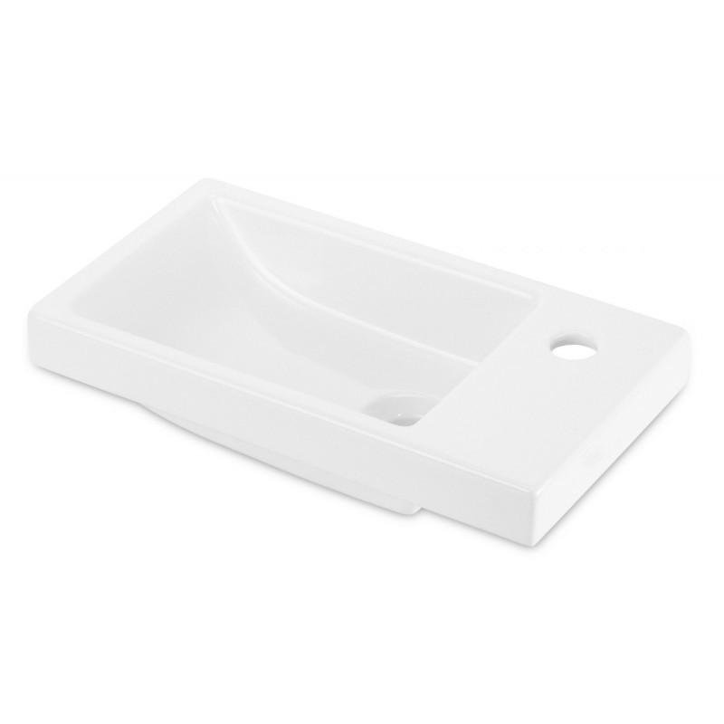 Keramické umyvadlo zápustné DEANTE FUNKIA 45x25 cm bílé