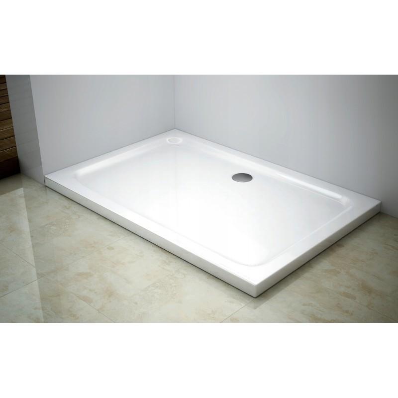 Sprchová vanička MEXEN SLIM 100x80 cm + sifón bílá