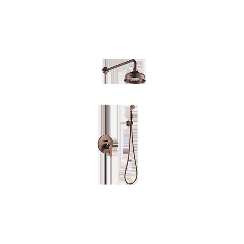 Sprchový set podomítkový OMNIRES ART DECO - starožitná měď