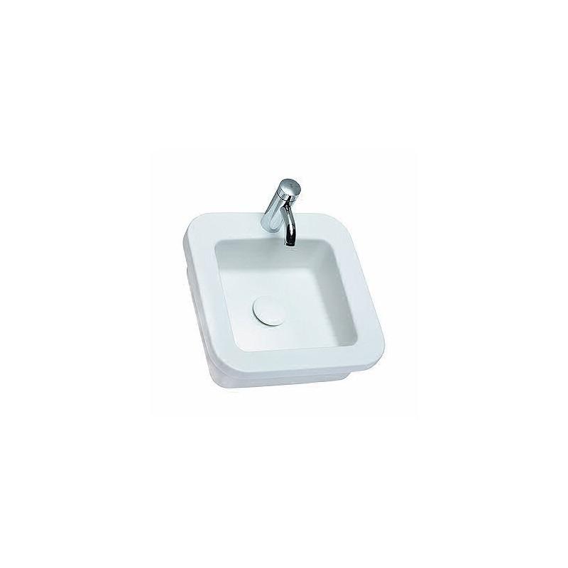 Keramické umyvadlo zápustné KOŁO COCKTAIL 45x45 cm bílé L31846000