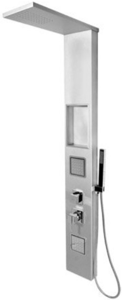 Sprchový panel Rea 9765 stříbrný
