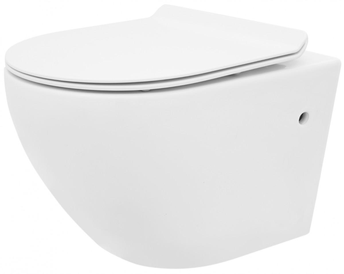 Závěsná WC mísa Rea Carlo Mini Rimless Slim N bílá