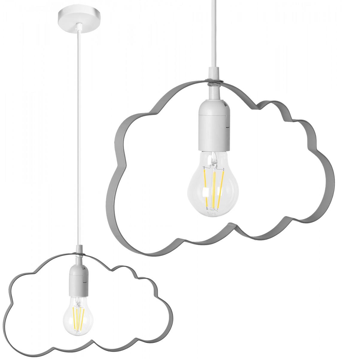 Stropní svítidlo TooLight Cloudie šedá