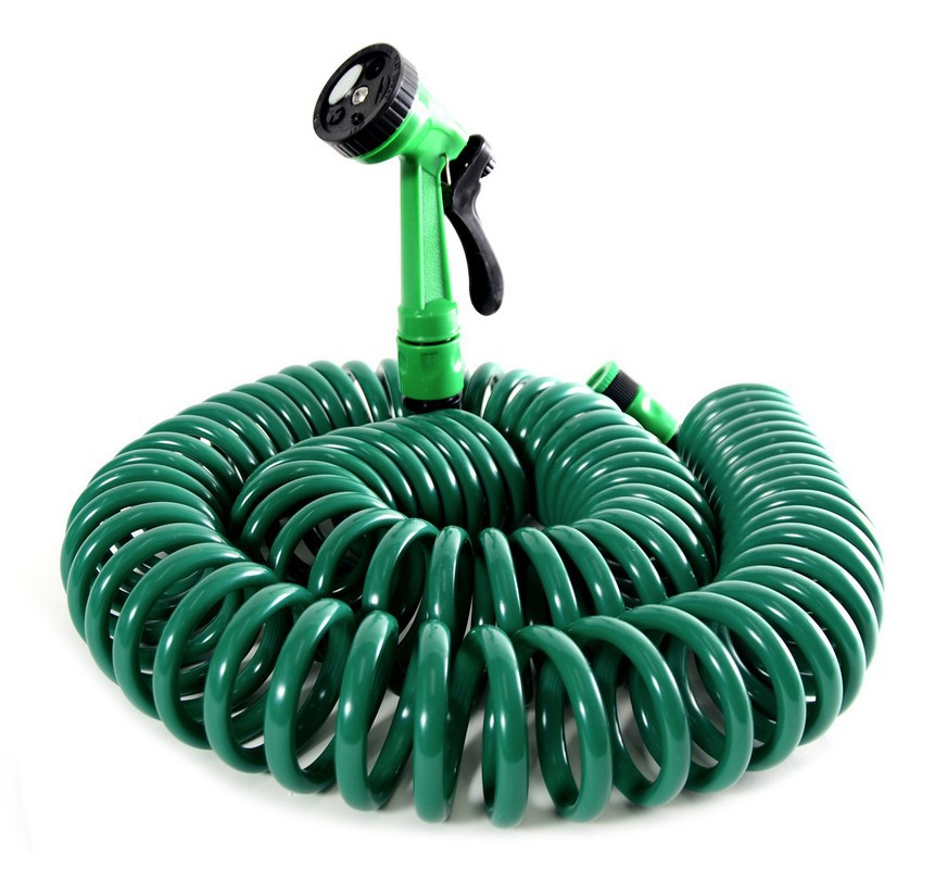 REA Zahradní spirálová hadice 15 m Bluegarden - zelená