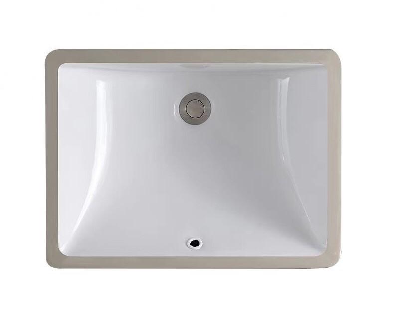 Keramické umyvadlo zápustné Rea Diana 52,2x38x3 cm bílé