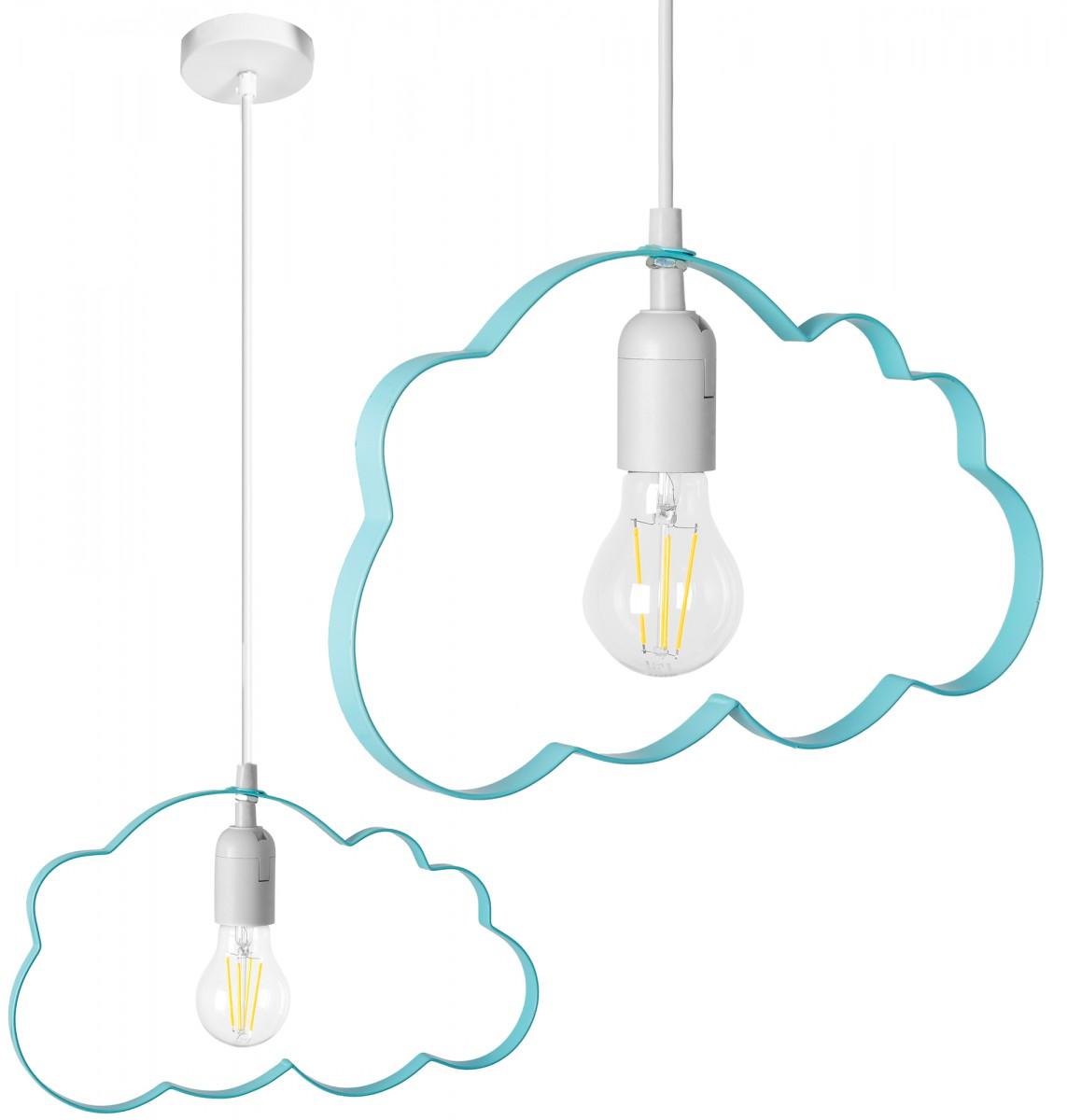 Stropní svítidlo TooLight Cloudie modrá