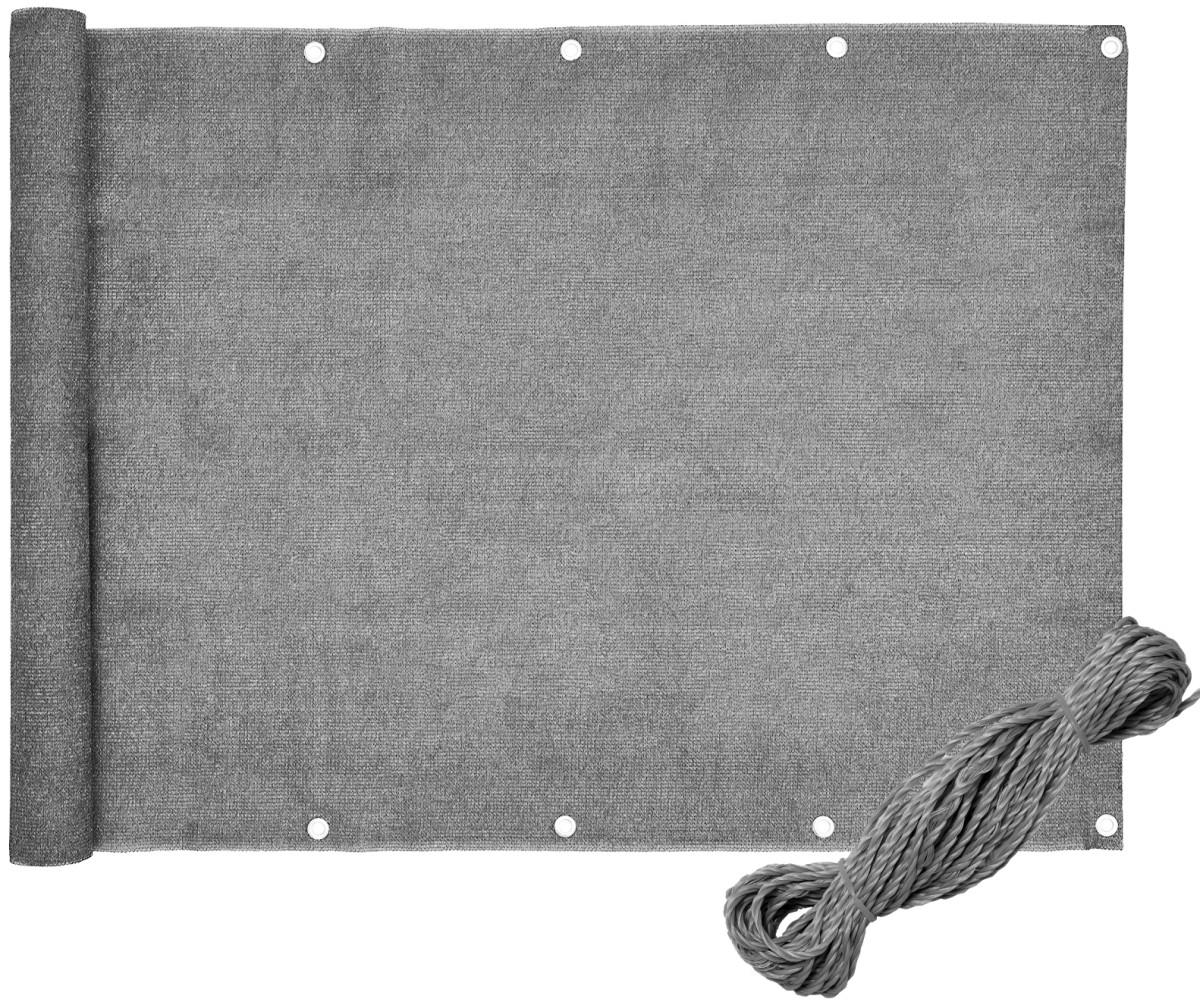Bluegarden Balkonová zástěna šedá 0,8x5 m PE