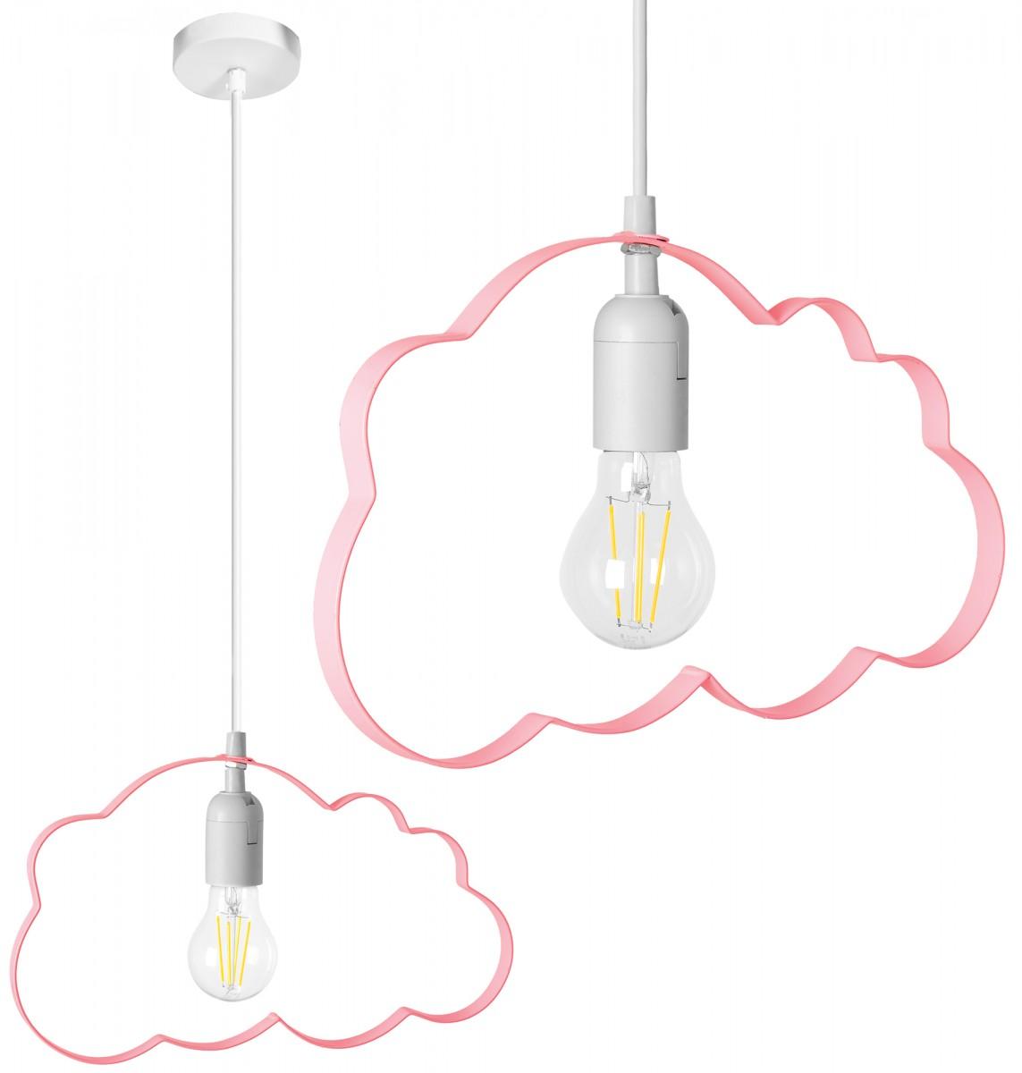 Stropní svítidlo TooLight Cloudie světle růžová