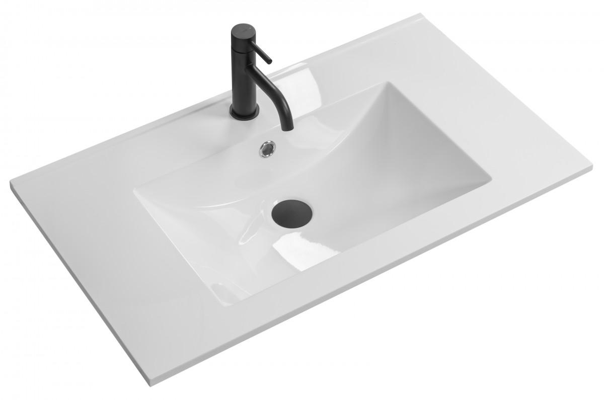 Umyvadlo z konglomerátu zápustné Rea Niva 60,5x46 cm bílé
