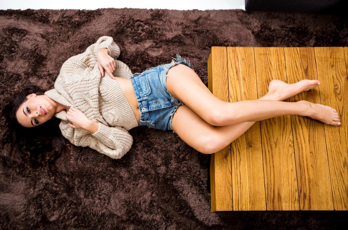 Tutumi Plyšový koberec Shock hnědý