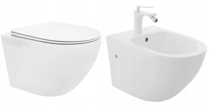 REA Sestava WC mísa + bidet CARLO MINI Flat bílá